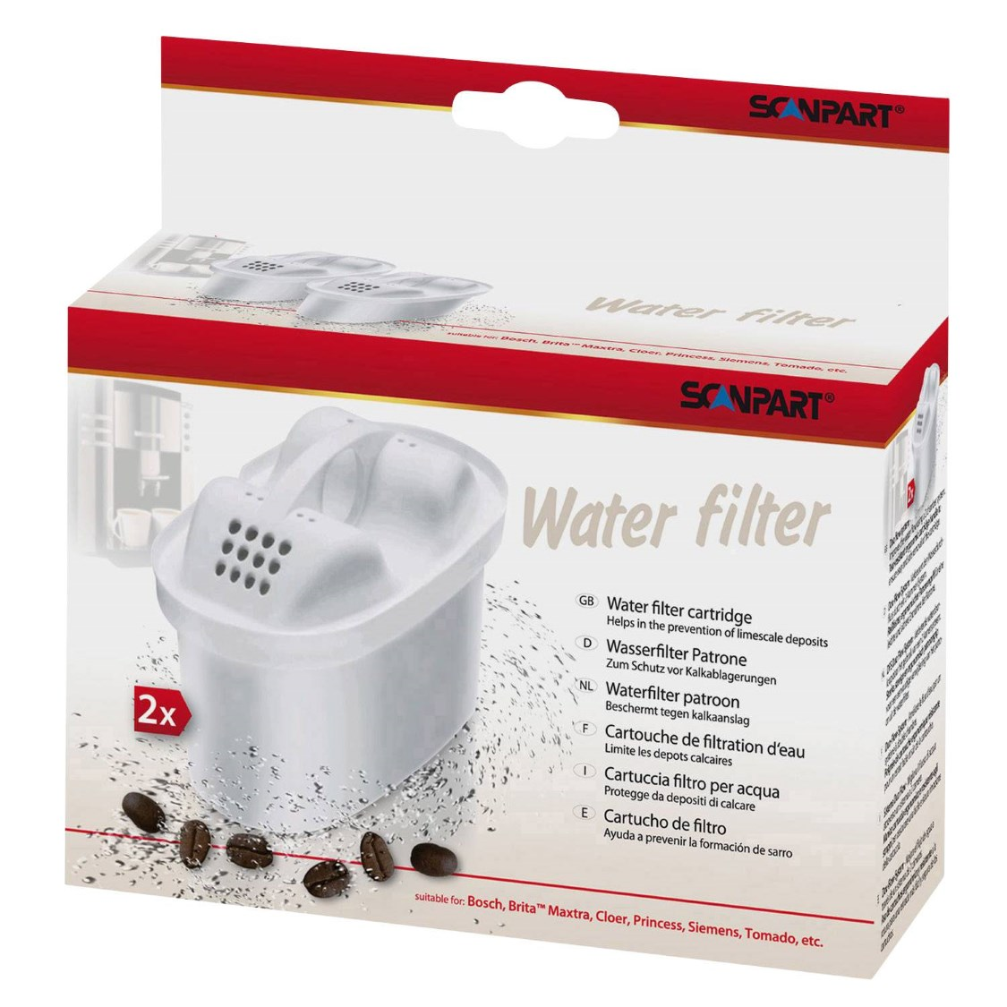 Scanpart filterpatronen - 2 stuks